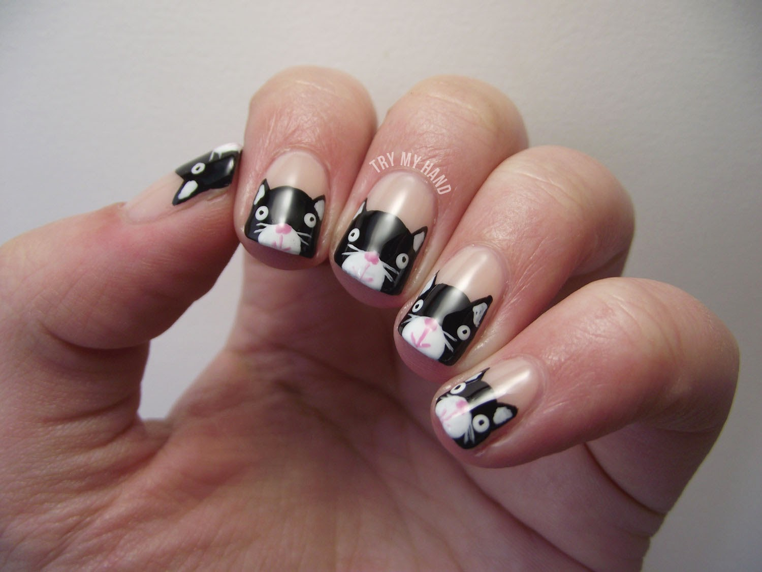 I Ve Got Another Tutorial Today For You All A Design Which Was Really Por During The Alphabet Nail Art Challenge It S K Kitties