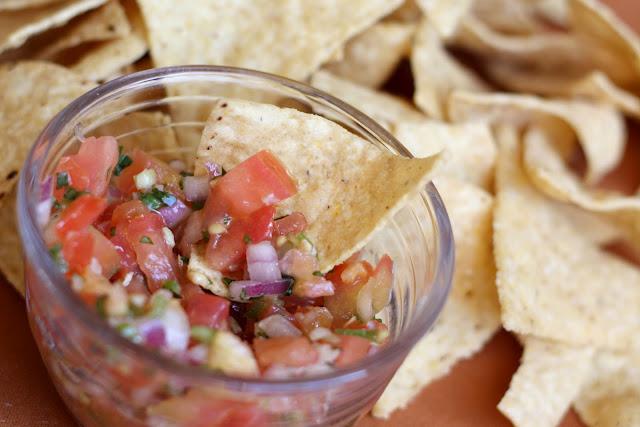 Pico De Gallo - Simple Mexican Salsa recipe by Barefeet In The Kitchen