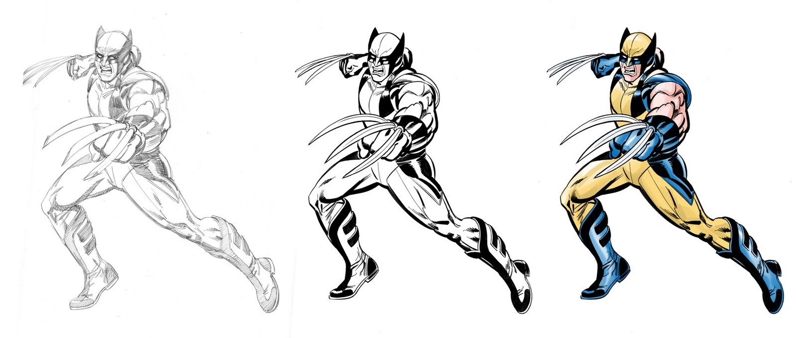 Attack At Don March 2011 Color Your Own Wolverine