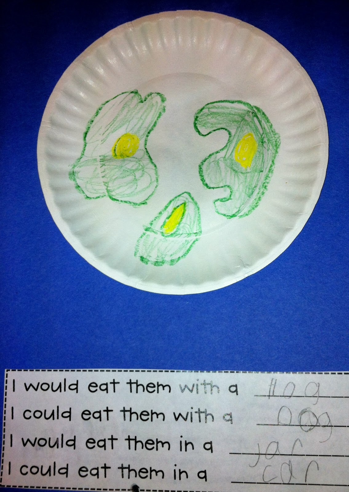 Then, we sampled our very own green eggs and ham!
