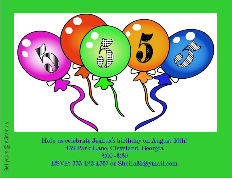 Birthday invitations can be customized in thousands of ways!