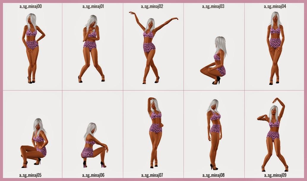 My Sims 3 Blog Nicki Minaj Inspired Poses By Sleep Genius