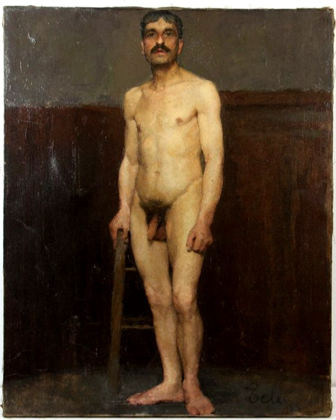 Shape, 19th century nude men
