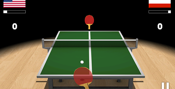 Ping Pong 3D with Admob – Codecanyon 11916341
