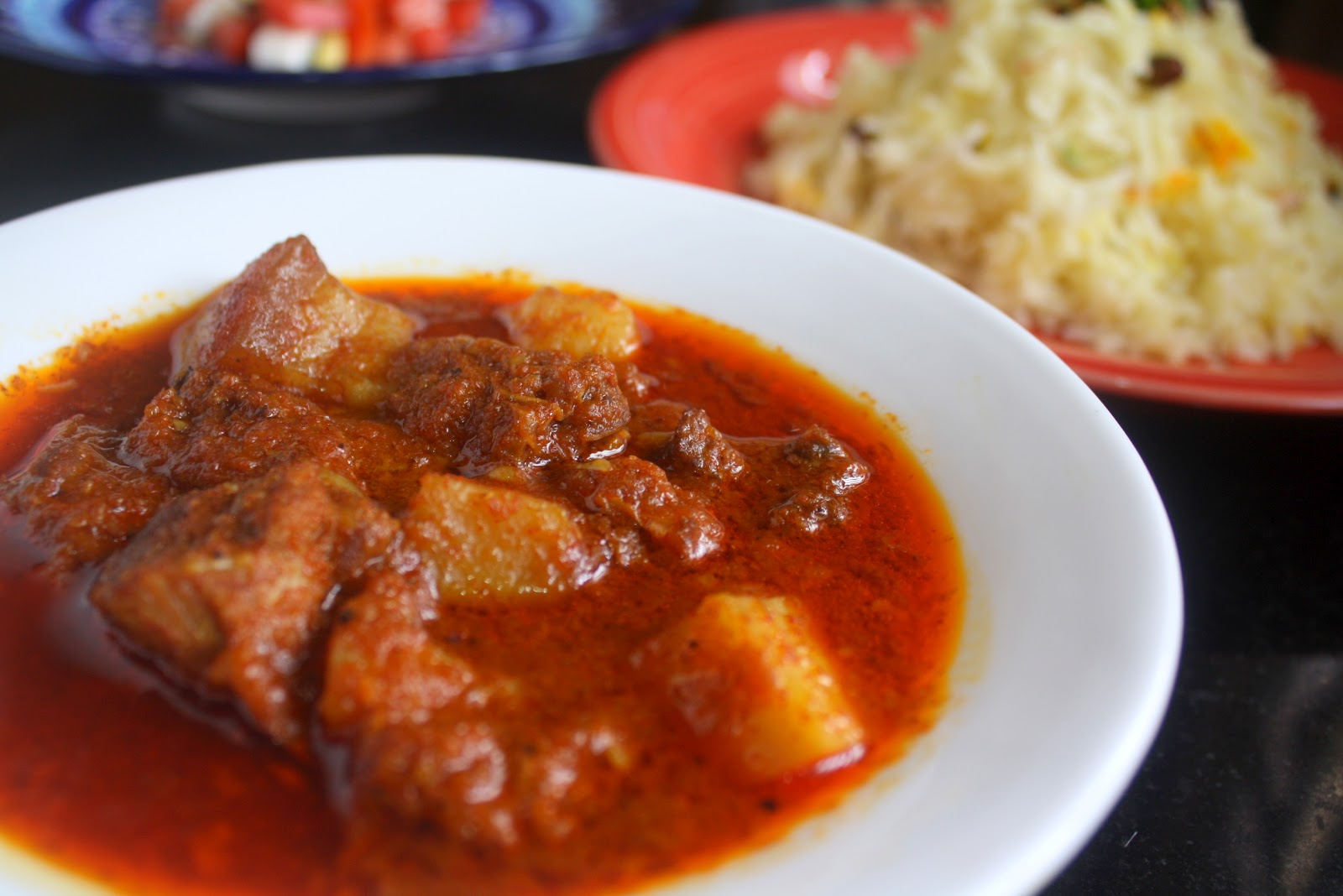 For the love of food!: Pork Vindaloo with saffron scented ...