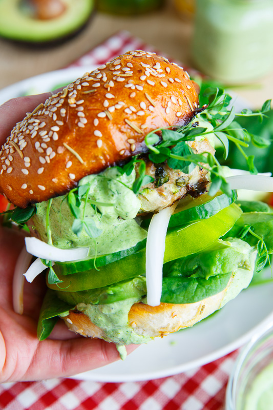 Green Goddess Zucchini Turkey Burger on Closet Cooking