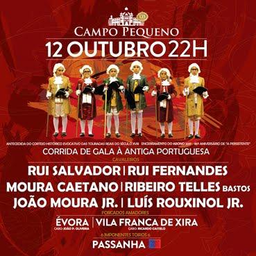 CAMPO PEQUENO (LISBOA) 12-10-2017. CORRIDA DE GALA A ANTIGA  PORTUGUESA. ABRE PRAÇA RUI SALVADOR.