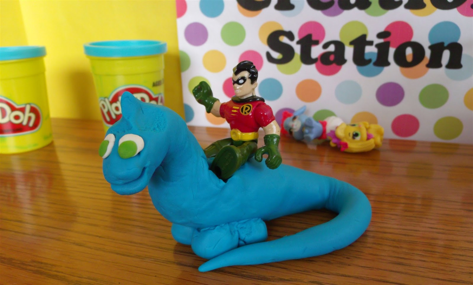 Play Doh Brontosaurus for Imaginext Robin