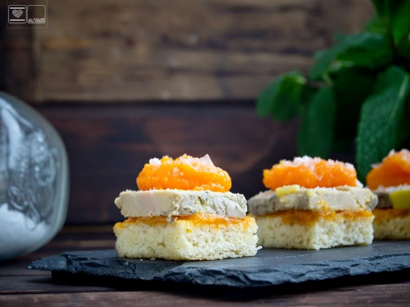 Foie casero con confitura de naranja y zanahorias