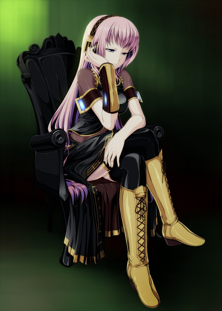 Megurine Luka is awesome. She has the boots....