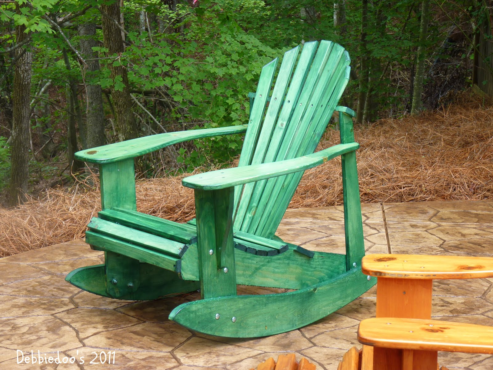 Painted Wood Patio Furniture staining wood furniture, versus painting - debbiedoos