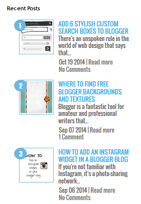 Fig. Recent Post Widget With Comment Count