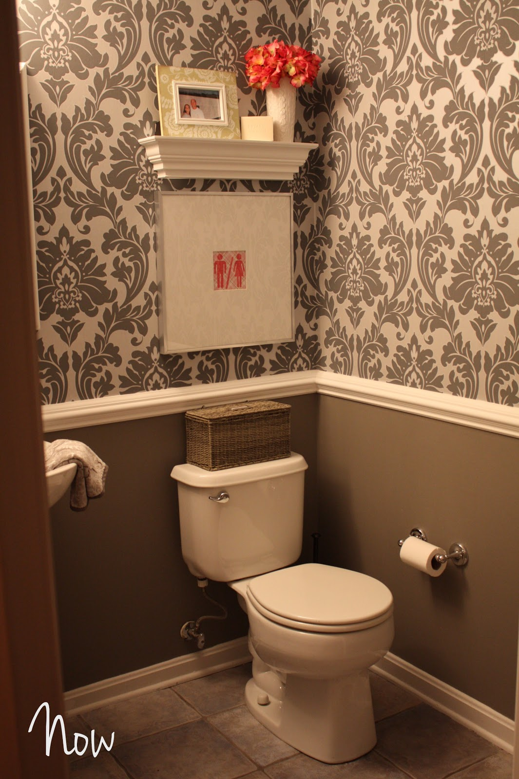 Shush in your home part 2 powder room gets some jewelry 2 color bathroom paint ideas