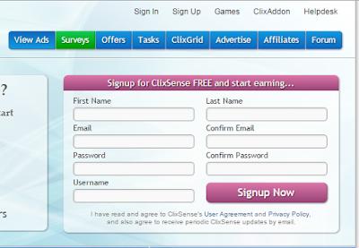 signup ClixSense