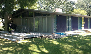 Deck design for mid century home