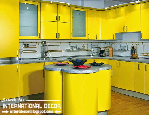 how to choose best kitchen colors 2015, modern yellow kitchens and countertop