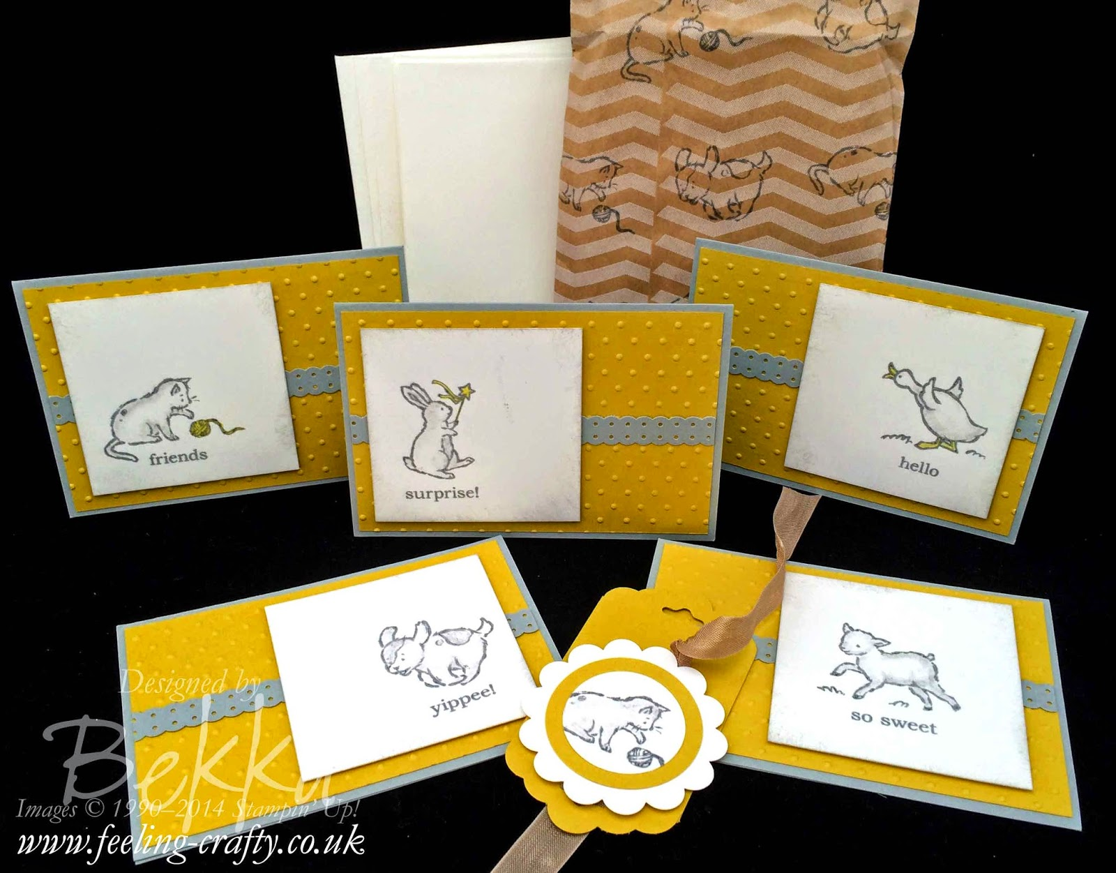 Storybook Friends Note Card Set by Stampin' Up! UK Independent Demonstrator Bekka - check out her blog for lots of great ideas and to get these products