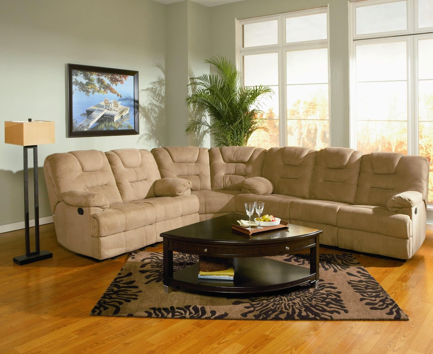 recliner couch l shaped couch with recliner