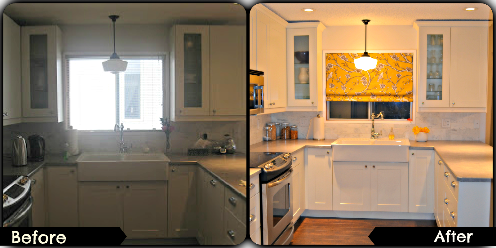 Crown molding on kitchen cabinets before and after - We Purchased Crown Moulding From The Hardware Store And Decided That Nailing A Narrow Board To The Top Of The Cabinets Would Be A Creative Way To Attach The
