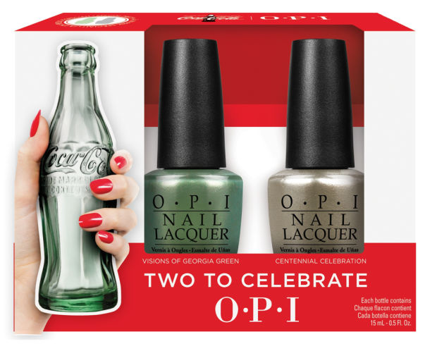 KellieGonzo  OPI Coca-Cola Two To Celebrate Duo Swatches  amp  ReviewOpi Coca Cola