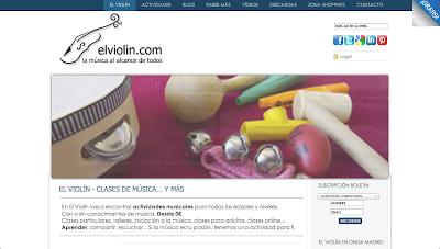 El Violín en Directoriopax El Violin - La música al alcance de todos - Clases, cursos, talleres y actividades musicales - Iniciación a la música clásica - Recursos para profesores y estudiantes