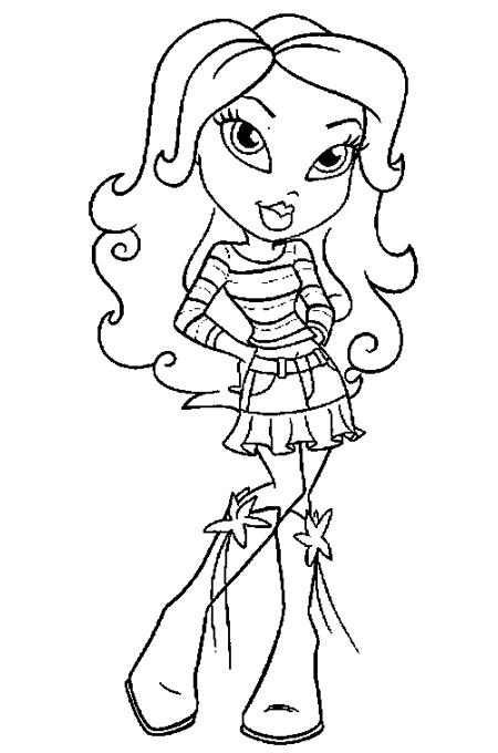 صورة بنت صغيرة لتلوين الاطفال ترتدي لباس جميل جدا