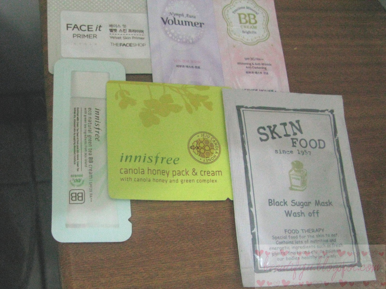 The Face Shop Face It Primer Sample 11 Etude House Nymph Aura Volumer Sample and BB Cream Bright Fit Sample