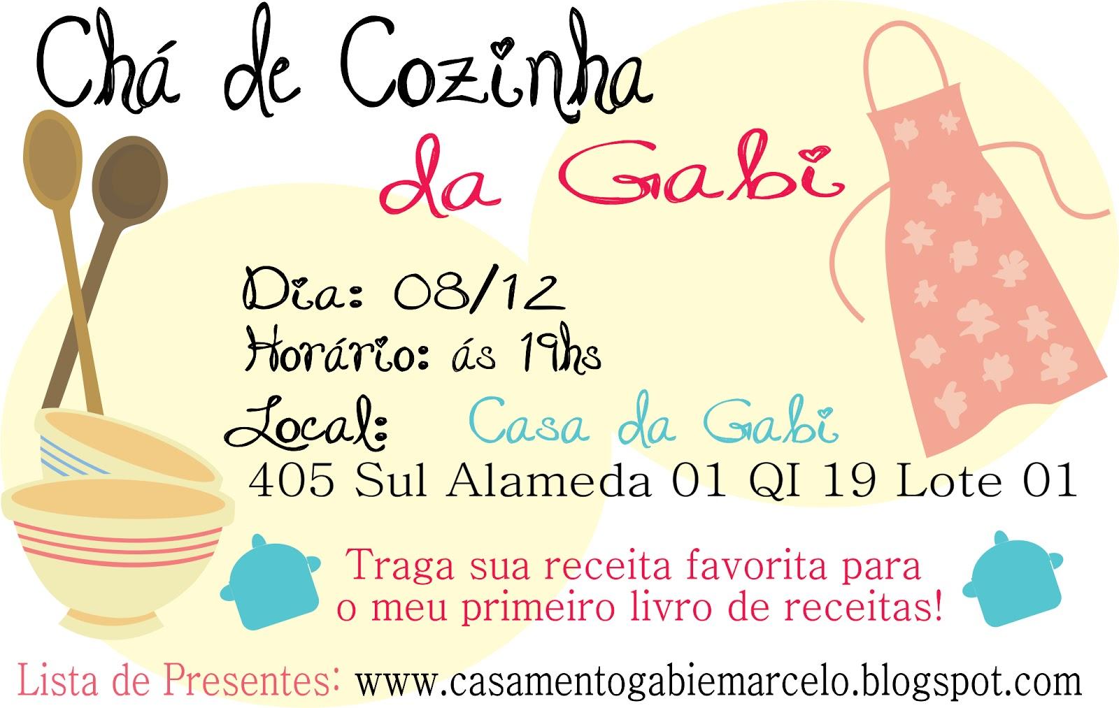 Amado Casamento - Gabriela e Marcelo: Lista de Presentes - Chá de Cozinha AM02