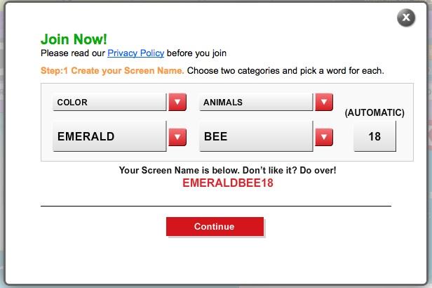 Online dating usernames generator