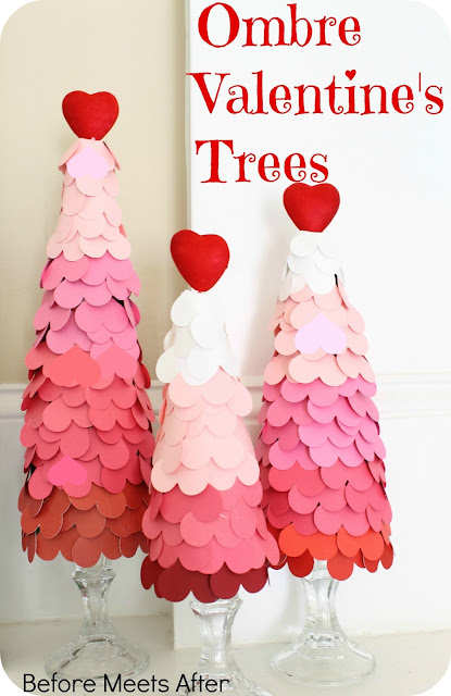 Ombre Valentine's Tree by Before Meets After