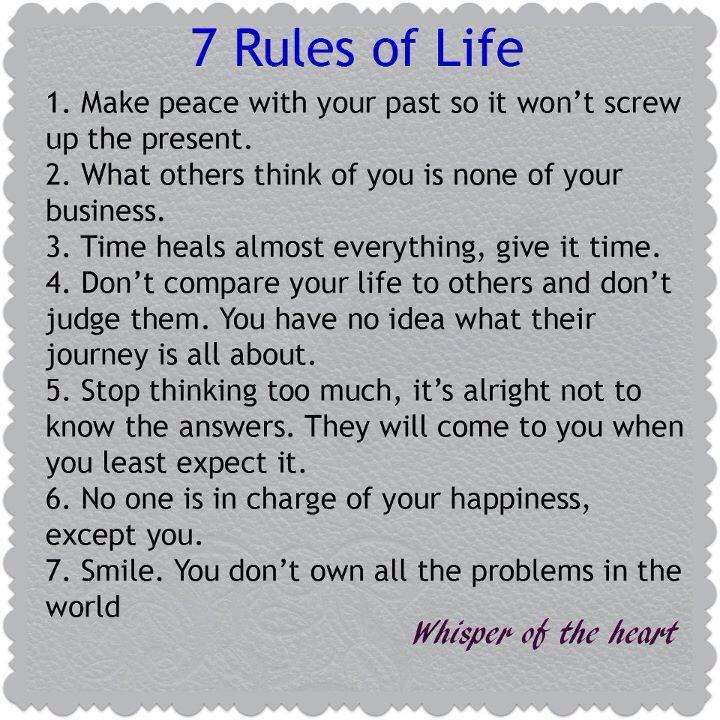 Seven Rules of Life jjbjorkman.blogspot.com