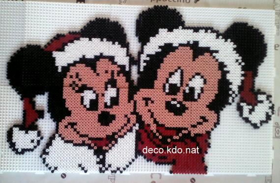 Decokdonat Perles Hama Mickey Et Minnie Noël