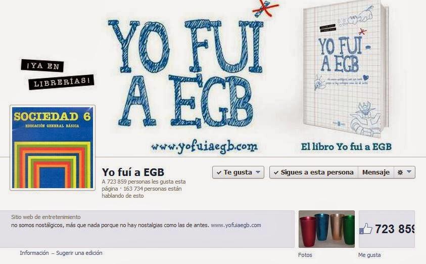 Fanpage en Facebook de Yo Fui a EGB