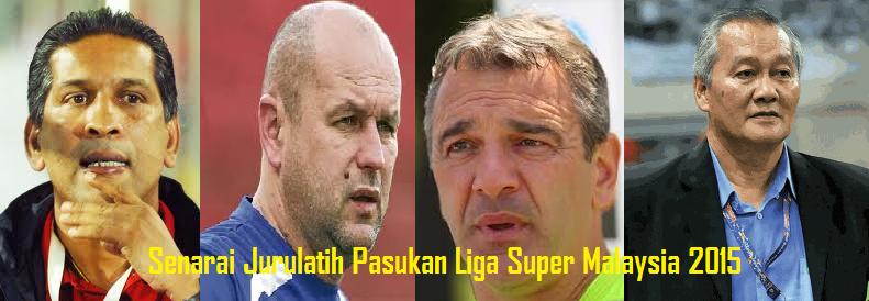 Senarai Jurulatih Pasukan Liga Super Malaysia 2015