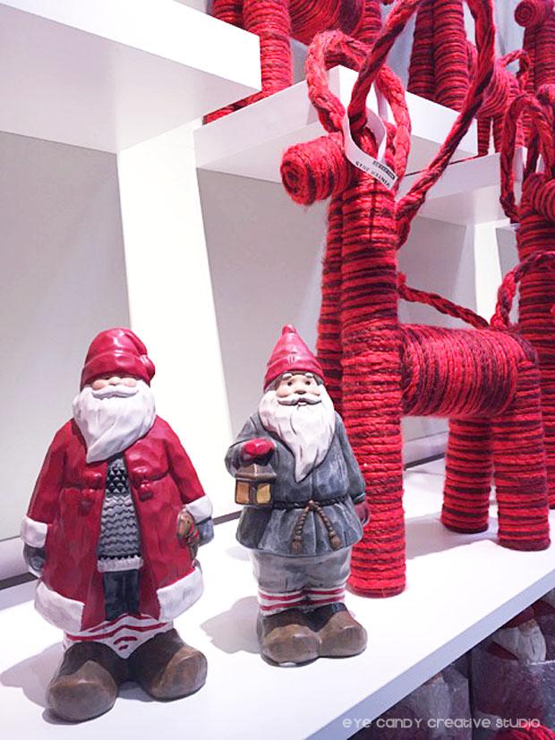 santa decor, reindeer decor, red reindeer, ikea christmas decorations