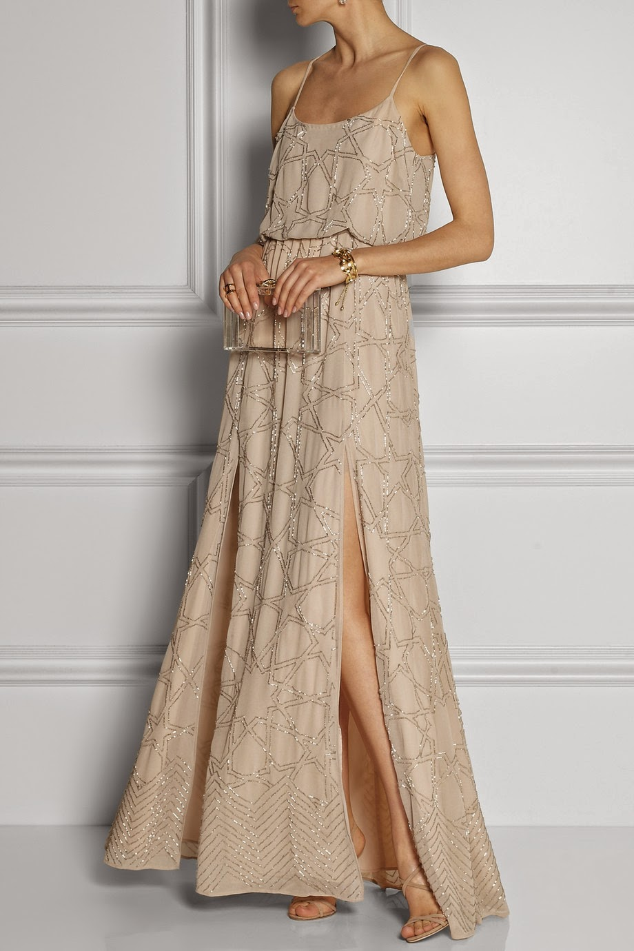 Secretstylist needle and thread constellation maxi dress for The net a porter