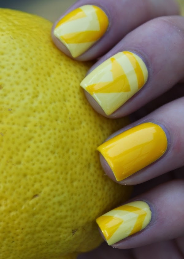 Yellow Nail Art Designs