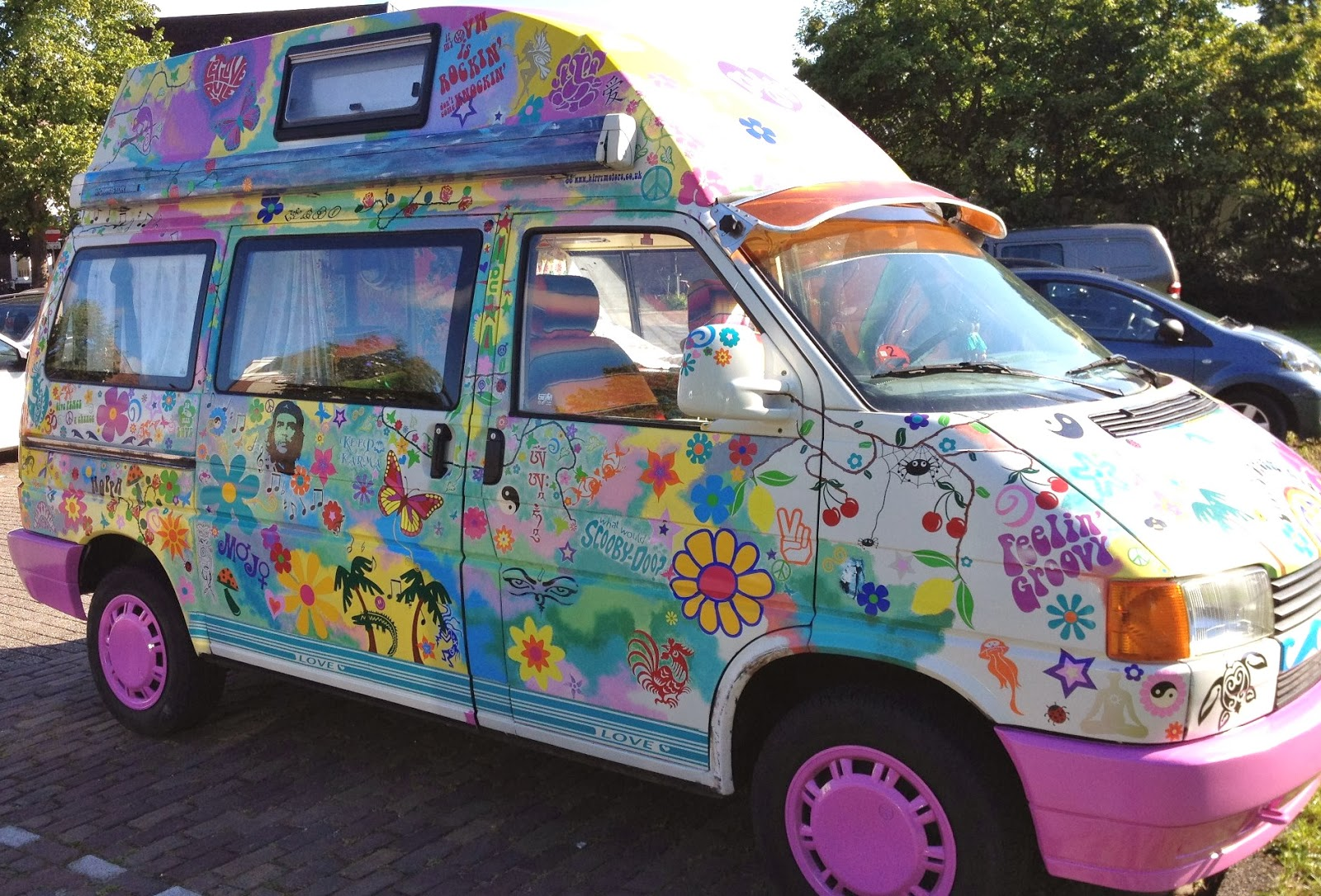 Flower power car stickers spread road peace through africa and europe
