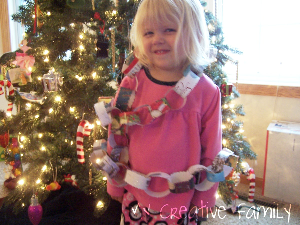 littlegirl tied up A paper chain that we soon found out was perfect for tying up little  sisters! (Just kidding! No child was actually tied up… we just had fun  taking silly ...