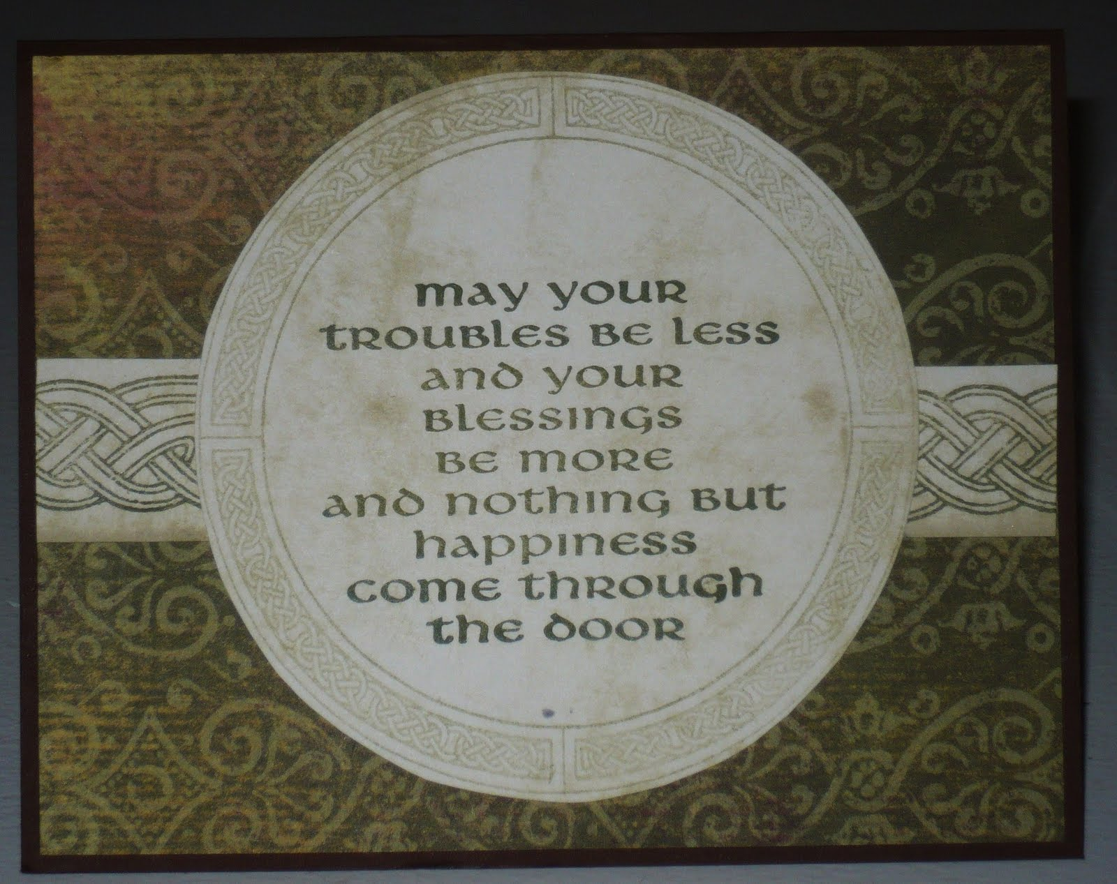 Stamping Muses Celtic Birthday Blessing