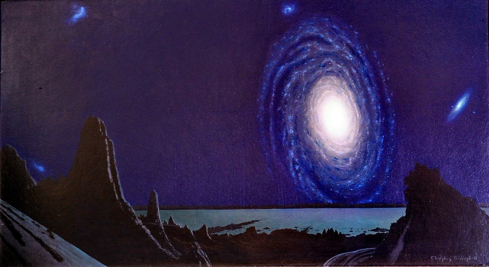 The Milky Way Galaxy from a Hypothetical Planet by Chesley Bonestell
