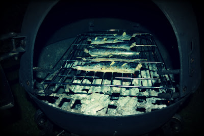BBQed mackerel