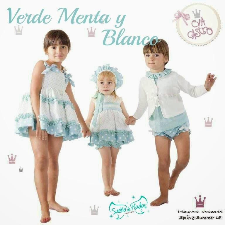 Verde Menta y Blanco-Colección Marta de Eva Castro