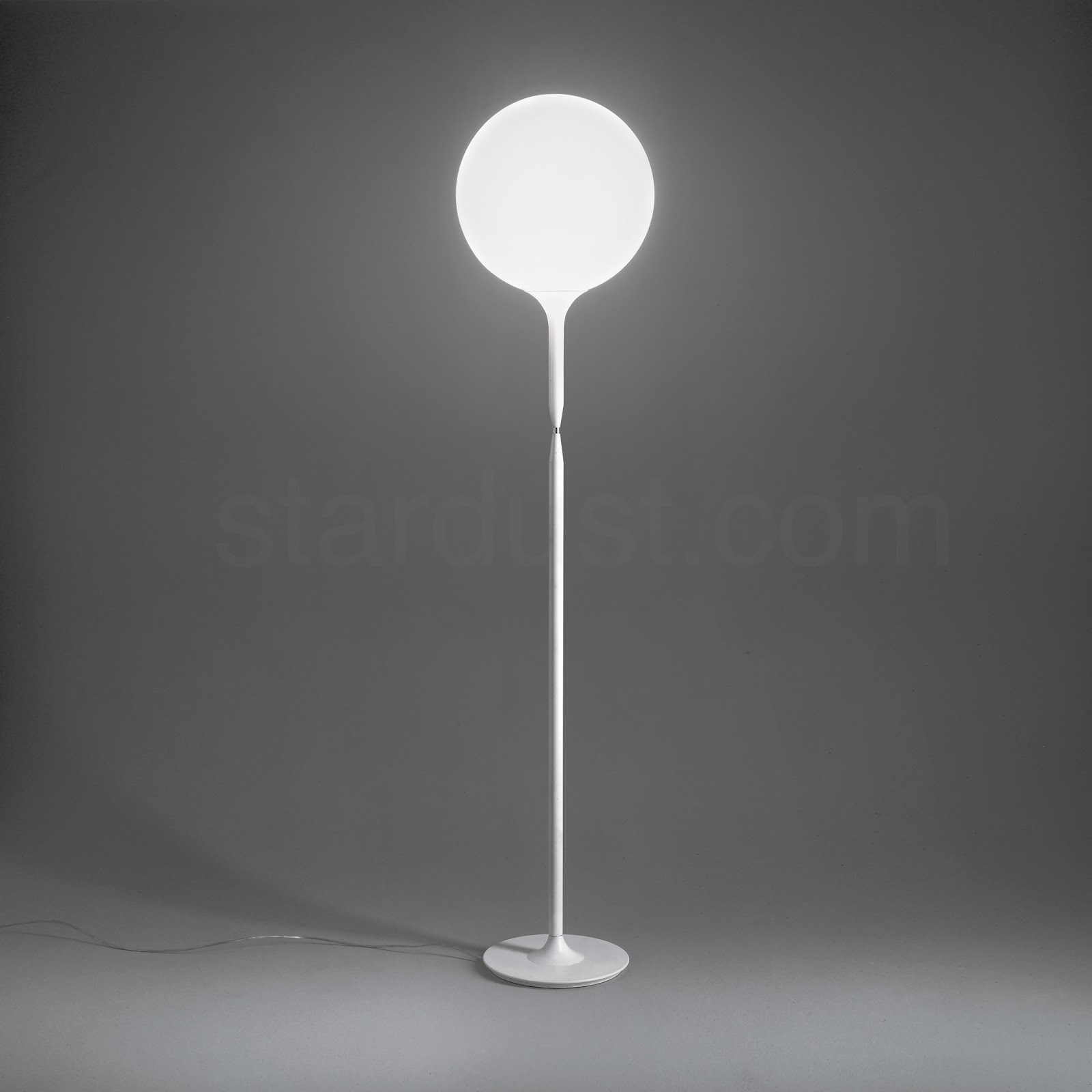 Castore 42 Tall Elegant Modern Floor Lamp White Round