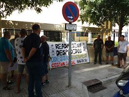 De la Concentración convocada en la sede del SERCLA de Cádiz por la Readmisión de los despedidos en