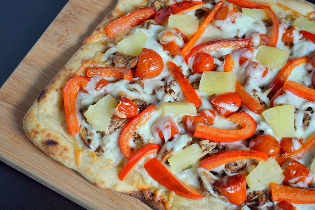 Jerk Chicken and Pineapple Pizza recipe