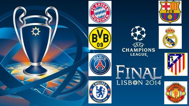 Los clasificados a los cuartos de final uefa champions for Champions cuartos de final