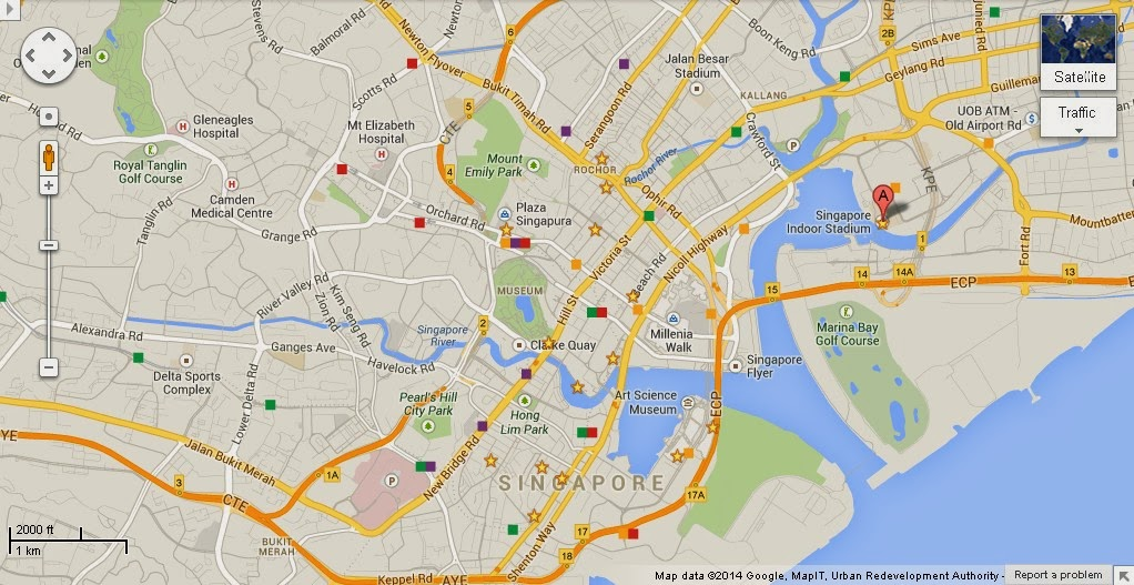 Detail Singapore Indoor Stadium Location Map – Tourist Map Of Singapore City