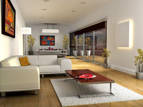 Concept Design Model Homes Modern Minimalist Living Room