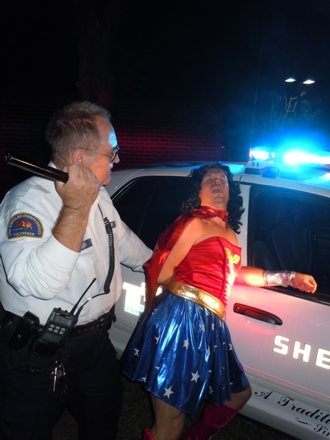 WEHO Halloween Wonder Woman busted